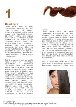 Hairstyle Word Template, First Inner Page, 05429, Careers/Industry — PoweredTemplate.com