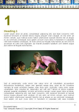 Class Teaching Word Template First Inner Page