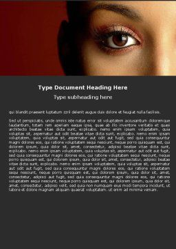 Make-Up Word Template, Cover Page, 05433, Medical — PoweredTemplate.com