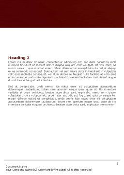 Make-Up Word Template, Second Inner Page, 05433, Medical — PoweredTemplate.com