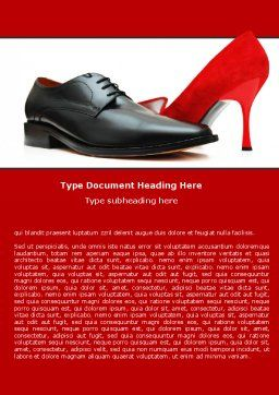 Footwear Word Template, Cover Page, 05435, Consulting — PoweredTemplate.com
