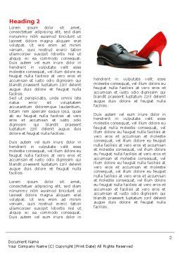 Footwear Word Template, First Inner Page, 05435, Consulting — PoweredTemplate.com