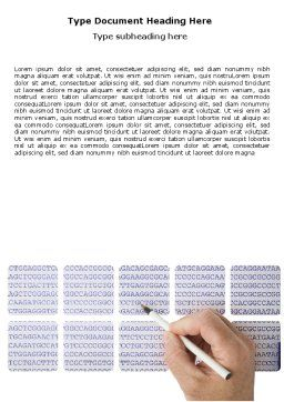 DNA Sequences Word Template, Cover Page, 05437, Technology, Science & Computers — PoweredTemplate.com
