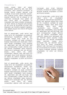 DNA Sequences Word Template, First Inner Page, 05437, Technology, Science & Computers — PoweredTemplate.com