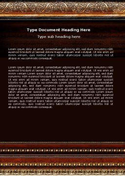 Antique Frame Decoration Word Template Cover Page