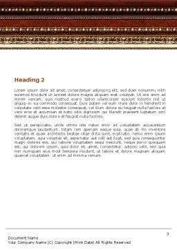 Antique Frame Decoration Word Template Second Inner Page