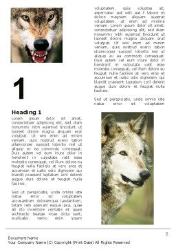 Wolf Word Template, First Inner Page, 05439, Agriculture and Animals — PoweredTemplate.com