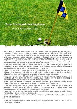 Marked Golf Hole Word Template, Cover Page, 05441, Sports — PoweredTemplate.com