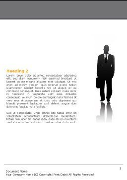 Business Personnel Silhouettes Word Template, Second Inner Page, 05442, Business — PoweredTemplate.com
