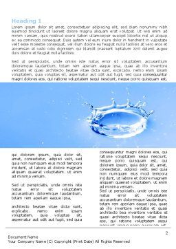 Blue Water Splash Word Template, First Inner Page, 05444, Nature & Environment — PoweredTemplate.com