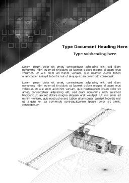 Project Of Satellite Word Template, Cover Page, 05449, Technology, Science & Computers — PoweredTemplate.com