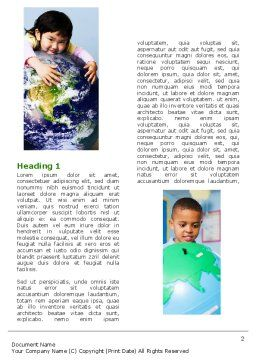 Pupils Of The World Word Template, First Inner Page, 05451, Education & Training — PoweredTemplate.com