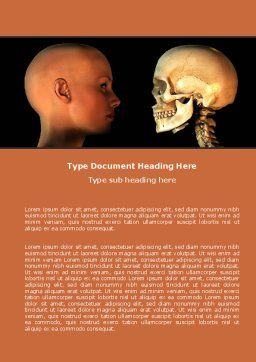Human Skull Word Template, Cover Page, 05452, Medical — PoweredTemplate.com