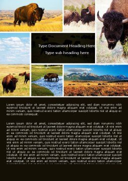 Bison Word Template Cover Page