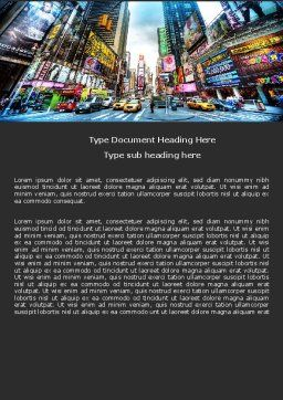 Times Square Word Template, Cover Page, 05456, Construction — PoweredTemplate.com