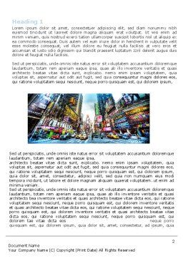 Times Square Word Template, First Inner Page, 05456, Construction — PoweredTemplate.com