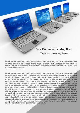 Laptops Line Word Template, Cover Page, 05457, Technology, Science & Computers — PoweredTemplate.com