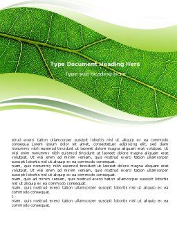 Green Leaf Wave Word Template Cover Page