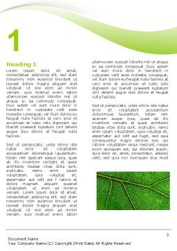 Green Leaf Wave Word Template First Inner Page