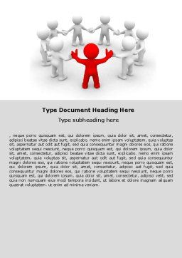 Union Word Template, Cover Page, 05459, Consulting — PoweredTemplate.com