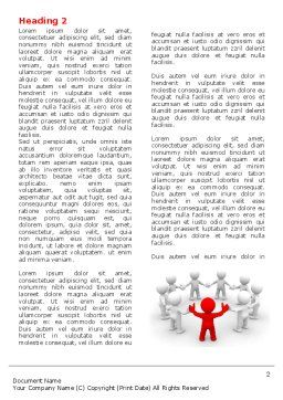 Union Word Template, First Inner Page, 05459, Consulting — PoweredTemplate.com
