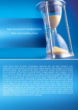 Hourglass Word Template, Cover Page, 05461, Consulting — PoweredTemplate.com
