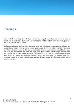 Hourglass Word Template, Second Inner Page, 05461, Consulting — PoweredTemplate.com