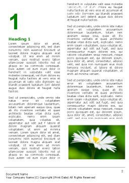 Daisy Chain Word Template First Inner Page