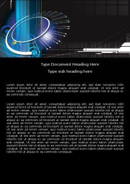 Abstract Computer Design Word Template, Cover Page, 05464, Technology, Science & Computers — PoweredTemplate.com
