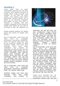 Abstract Computer Design Word Template, First Inner Page, 05464, Technology, Science & Computers — PoweredTemplate.com