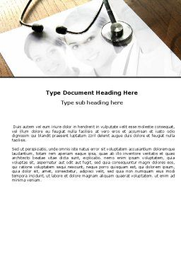 Portrait Of Medical Staff Word Template, Cover Page, 05468, Medical — PoweredTemplate.com