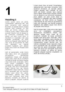 Portrait Of Medical Staff Word Template, First Inner Page, 05468, Medical — PoweredTemplate.com