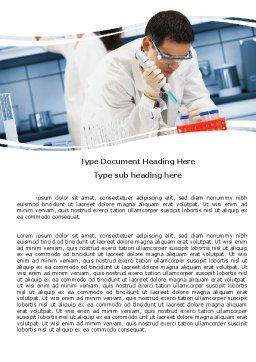 Medical Testing In The Laboratory Word Template Cover Page