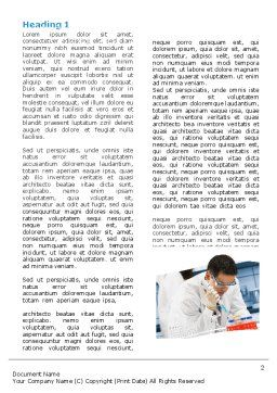 Medical Testing In The Laboratory Word Template First Inner Page