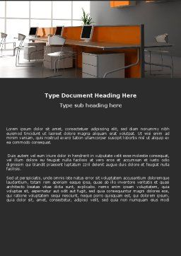 Office Open Space Word Template, Cover Page, 05473, Careers/Industry — PoweredTemplate.com