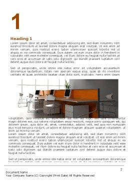 Office Open Space Word Template, First Inner Page, 05473, Careers/Industry — PoweredTemplate.com