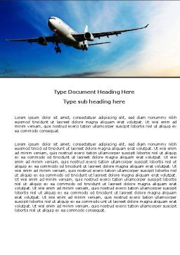 Modern Plane Word Template, Cover Page, 05474, Cars/Transportation — PoweredTemplate.com