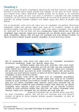 Modern Plane Word Template, First Inner Page, 05474, Cars/Transportation — PoweredTemplate.com
