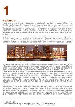 Manhattan Bridge Word Template, First Inner Page, 05475, Construction — PoweredTemplate.com