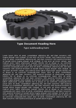 Mechanic Parts Word Template, Cover Page, 05483, Utilities/Industrial — PoweredTemplate.com