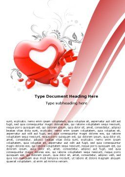 Giving Love Word Template, Cover Page, 05490, Holiday/Special Occasion — PoweredTemplate.com