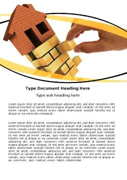 Housing Word Template, Cover Page, 05491, Financial/Accounting — PoweredTemplate.com