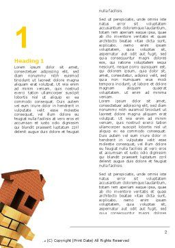 Housing Word Template First Inner Page