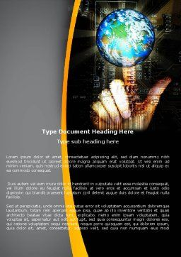 World Links Word Template, Cover Page, 05493, Technology, Science & Computers — PoweredTemplate.com