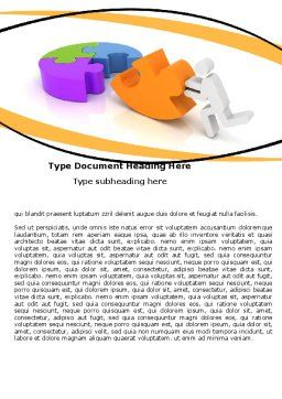 Matching Piece Word Template, Cover Page, 05496, Consulting — PoweredTemplate.com