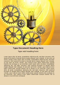 Working Idea Word Template, Cover Page, 05498, Consulting — PoweredTemplate.com