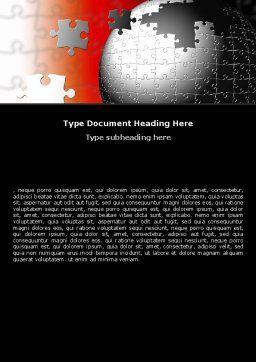 World Fragments Word Template, Cover Page, 05507, Business Concepts — PoweredTemplate.com