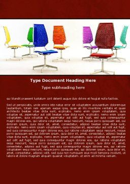 Chairs Word Template, Cover Page, 05508, Business Concepts — PoweredTemplate.com