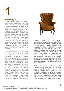 Armchair Word Template First Inner Page