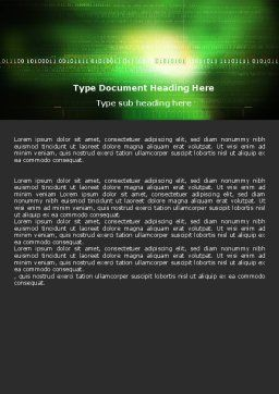 Information Galaxy Word Template, Cover Page, 05514, Technology, Science & Computers — PoweredTemplate.com